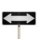 Directions Two Way Road Street Sign Instructions Leadership Mana Royalty Free Stock Photos