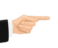 Directive gesture. Hand with directive gesture, on white background Royalty Free Stock Photos