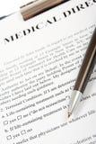 Directive médicale Photographie stock