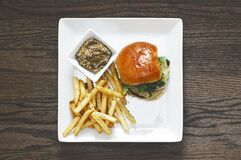 Directly Above Shot of Food Served on Table Royalty Free Stock Photos