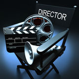 Director�s Chair Royalty Free Stock Photography