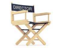 Director. Render of a director chair on a white background vector illustration