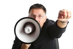 Director acting as a dictator royalty free stock photography