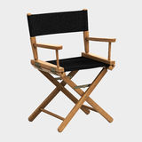 Director Chair. 3d render Director Chair clipping path Royalty Free Stock Image