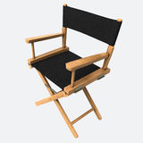 Director Chair. 3d render Director Chair clipping path Royalty Free Stock Images