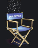 Director Chair. Illustration on a black ground vector illustration