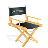 Director Chair. Vector illustration of director chair with tag Stock Photo