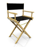 Director chair. 3d illustration of cinema director chair, over white background royalty free illustration