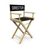 Director chair. 3d illustration of cinema director chair over white background Royalty Free Stock Image