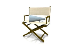 Director chair. A director chair with a megaphone on it Royalty Free Stock Images
