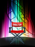 Director Chair on Abstract Spectrum Background Stock Image