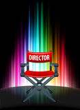 Director Chair on Abstract Spectrum Background. 