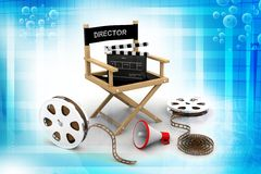 Director chair. In attractive background Royalty Free Stock Images