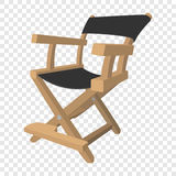 Director chair cartoon icon. Director chair icon in cartoon style on transparent background Royalty Free Stock Photo