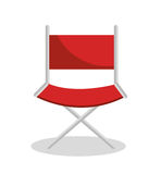 Director chair cinema icon Stock Image