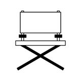 Director chair cinema icon Royalty Free Stock Photography