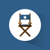 Director chair film movie icon. Vector illustration eps 10 Royalty Free Stock Photos