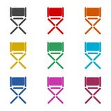 Director chair icon, color icons set. Simple vector icon Royalty Free Stock Image