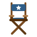 Director chair icon. Flat design director chair icon illustration stock image