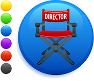 Director chair icon on round internet button Royalty Free Stock Image
