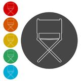 Director chair -  icon. Simple  icons set Royalty Free Stock Photo