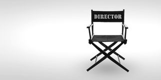 Director chair. Including clipping path royalty free stock photos