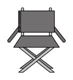 Director chair isolated icon design Stock Image