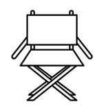 Director chair isolated icon design Royalty Free Stock Photography