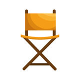 Director chair isolated icon Royalty Free Stock Photo