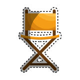 Director chair isolated icon Royalty Free Stock Images