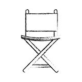 Director chair isolated icon. Vector illustration design Royalty Free Stock Photos