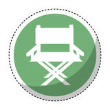 Director chair isolated icon Royalty Free Stock Image
