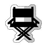 Director chair isolated icon Royalty Free Stock Photos
