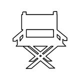 Director chair isolated icon Stock Image