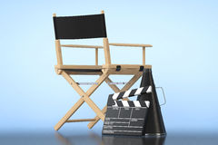 Director Chair, Movie Clapper and Megaphone Stock Images