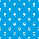 Director chair pattern vector seamless blue. Repeat for any use Royalty Free Stock Photo