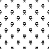Director chair pattern vector seamless. Repeating for any web design Stock Photo