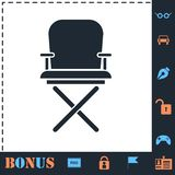 Director chair icon flat vector illustration