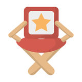 Director chair star movie film Stock Photography