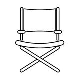 Director chair symbol Royalty Free Stock Image
