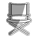 Director chair symbol Royalty Free Stock Photo