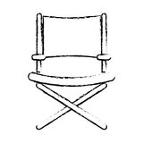 Director chair symbol Stock Image