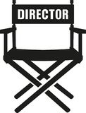 Director Chair vector. Occupation film Royalty Free Stock Image