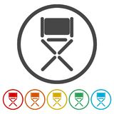 Director chair - vector icon, 6 Colors Included. Simple vector icons set Royalty Free Stock Photos