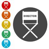 Director chair - vector icon. Simple vector icons set Stock Photos
