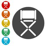 Director chair - vector icon. Simple vector icons set Stock Image