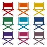 Director chair - vector icons set. Vector icon Stock Photo