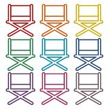 Director chair - vector icons set. Vector icon Royalty Free Stock Photo