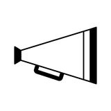 Director cinema megaphone icon Royalty Free Stock Images