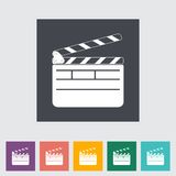 Director clapperboard flat icon. Stock Photo